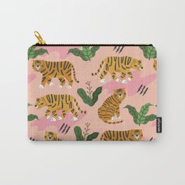 Vintage Tiger Print Carry-All Pouch