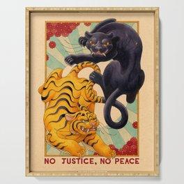 No Justice, No Peace Serving Tray
