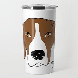 Hound Dog Face Travel Mug