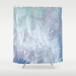 Whimsical Blue Dandelion Shower Curtain