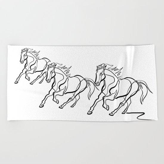 ~ghost.Horse~ Beach Towel