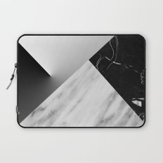 Monochromatic Marble Collage  Laptop Sleeve