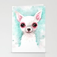 chihuahua Stationery Cards featuring Chihuahua by Black Fury
