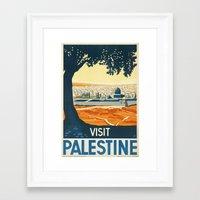 palestine Framed Art Prints featuring Palestine by Lost & Found