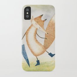 It stopped raining, Mr Fox iPhone Case