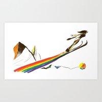 The Ski Jumper Art Print