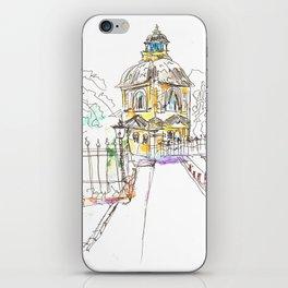 urban sketch in watercolor iPhone Skin