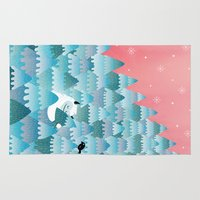 outdoor Area & Throw Rugs featuring Tree Hugger by littleclyde