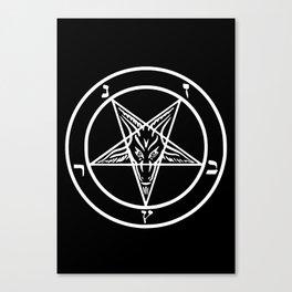 Ave Satanas (White) Canvas Print