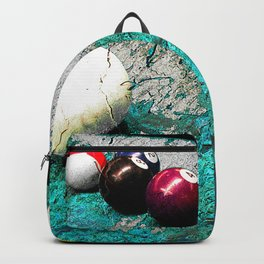 Modern Pool art and billiards artwork Backpack