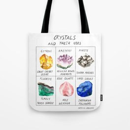 Crystals and their uses Tote Bag