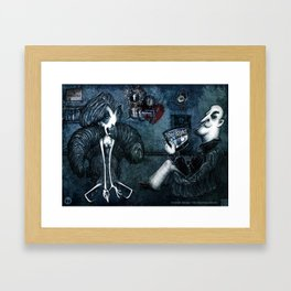FACEBOOK MADNESS Framed Art Print