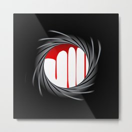 Barrel Blood Metal Print