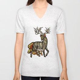 Spirited Deer Unisex V-Neck