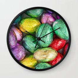 Easter Eggs II Wall Clock