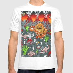Volcano Lands White MEDIUM Mens Fitted Tee