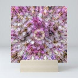 Floral fusion mandala Mini Art Print