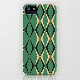Art Deco Green & Gold iPhone Case