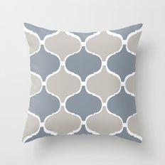 MARRAKECH PATTERN GreyBlue Throw Pillow