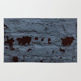 Textured Brick Blue Rug