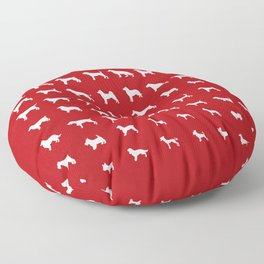 All Dogs (Red) Floor Pillow