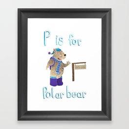 P id for Polar Bear Framed Art Print