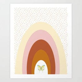 Rainbow Art - Kids Room Terracotta Rainbow Art Print