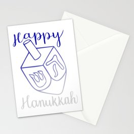 Happy Hanukkah Dreidel Stationery Cards