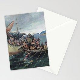 Vintage Viking Naval Battle Artwork Stationery Cards
