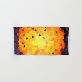 Abstract round mosaic background Hand & Bath Towel