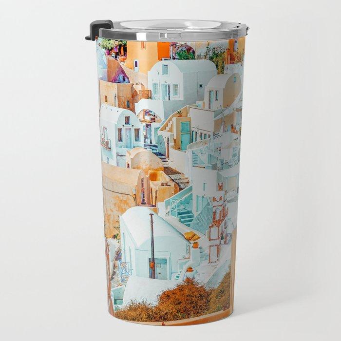 Santorini Vacay #photography #greece #travel Travel Mug