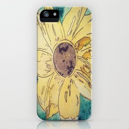 Sunflower madness iPhone Case