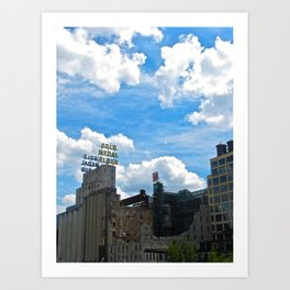 Minneapolis Ruins Art Print