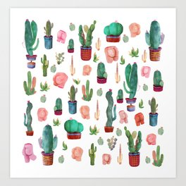Cactus and butts Art Print
