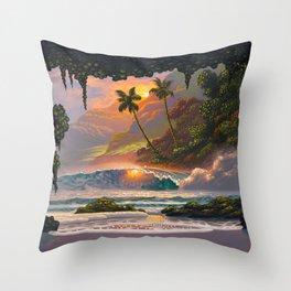 Hawaiian Hideout Throw Pillow