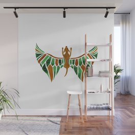 Flying Dog with Green Wings Wall Mural