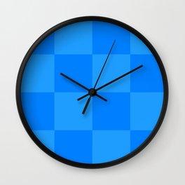 Blue 2 Tone Pattern Wall Clock