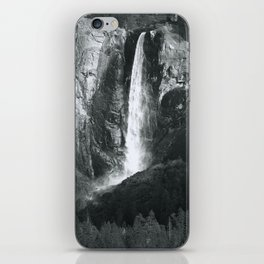 Bridalveil Falls. Yosemite California in Black and White iPhone Skin