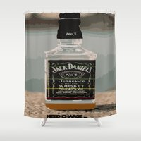 whisky Shower Curtains featuring Need charge by Denzalman