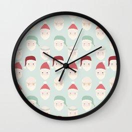 Santas - Mint Wall Clock