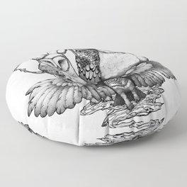 Goatowls (In B&W) Floor Pillow