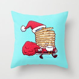 Santa Pancake Throw Pillow