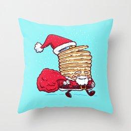 Santa Pancake Throw Pillow