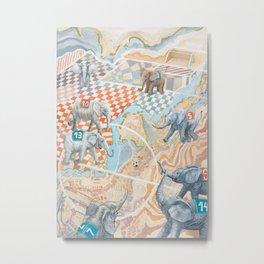 Elephant football game Metal Print