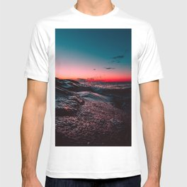 Pink ocean from sunset T-shirt