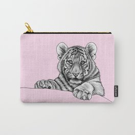 Amur tiger cub - pink Carry-All Pouch
