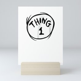 Dr. Seuss Thing 1 Emblem RED T-shirt Mini Art Print