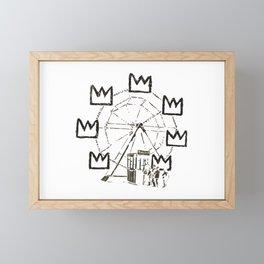 Ferris Wheel, Banksy Pays Tribute To Jean-Michel Basquiat, Artwork, Tshirts, Posters, Bags, Prints, Framed Mini Art Print