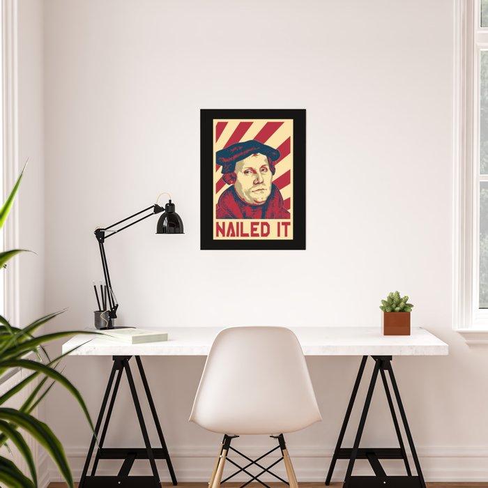 Martin Luther Retro Propaganda Poster