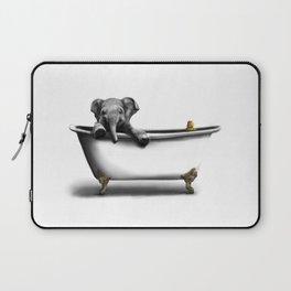Elephant in Bath Laptop Sleeve